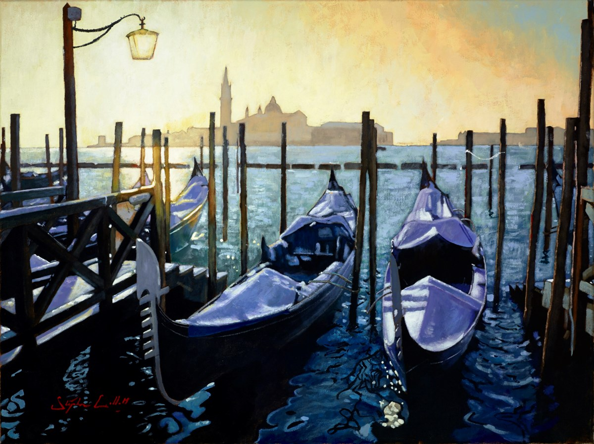 Venice LXI (Boats) by stephen collett -  sized 32x24 inches. Available from Whitewall Galleries